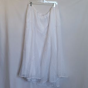Added Dimensions White Skirt By Catherines size 2X